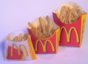 стоимость картошки фри в Макдональдсе