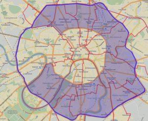 Карта платной парковки в центре Москвы