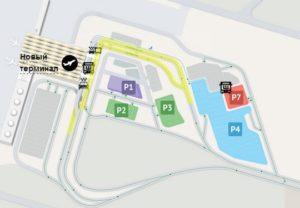 Схема парковки в аэропорту Пулково