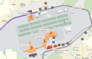 Схема парковок аэропорта Шереметьево