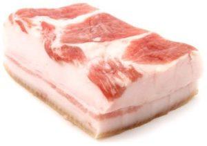 свежее свиное сало цена